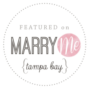 Featured On Marry Me Tampa Bay logo for local wedding professionals