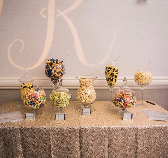 Popcorn bar- a piece of cake - hyatt clearwater - special moments event planning