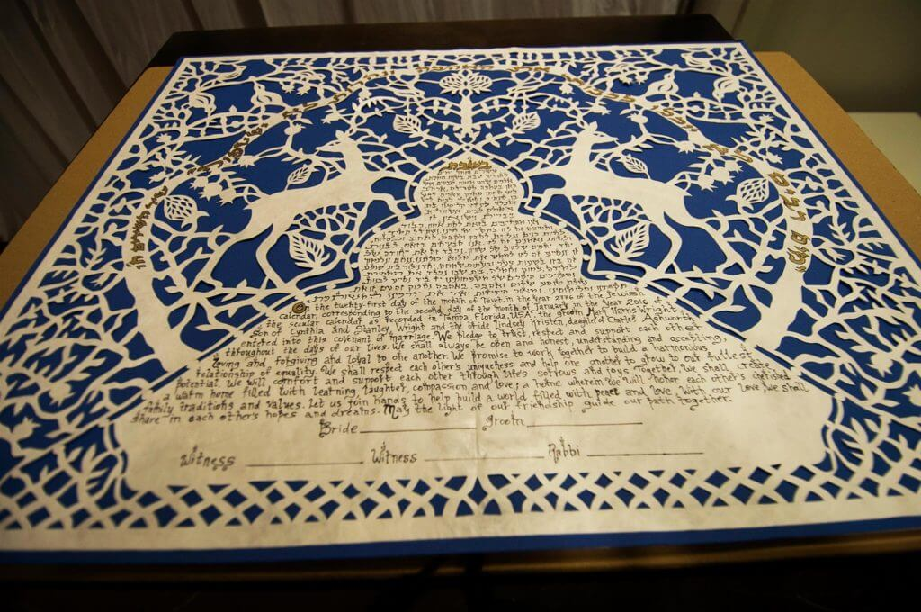 jewish weddings - ketubah - wedding planners near tampa bay - tampa jewish wedding - planning a jewish wedding - special moments event planning