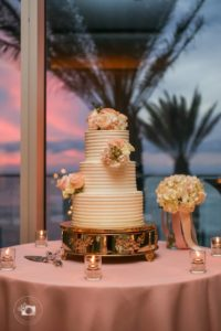 special moments event planning - tammy waterman - opal sands resort - clearwater beach wedding - clearwater beach wedding planner - sunset weddings - wedding cake