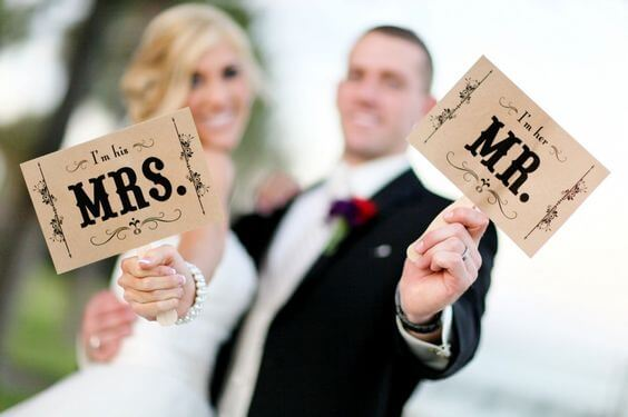 mr and mrs - bride and groom - unique wedding ideas