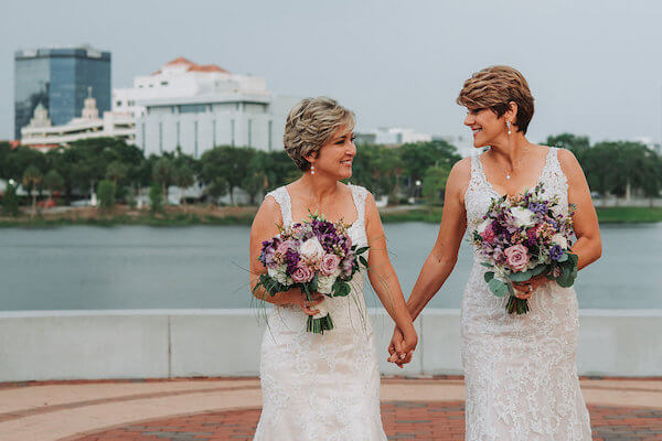 Special Moments Event Planning – St Petersburg wedding planner – Tampa Bay Same Sex Wedding Planner – same sex weddings - two brides holding hands