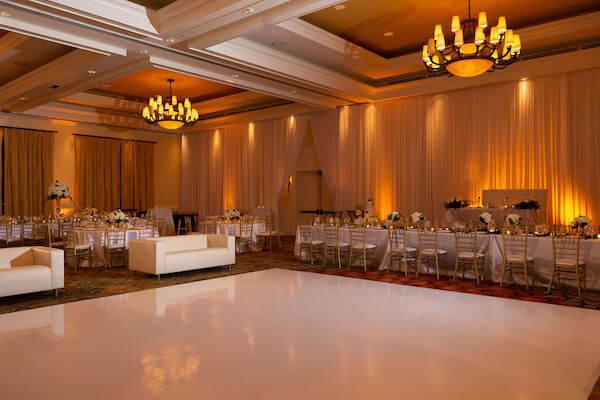 Clearwater beach weddings – clearwater beach Jewish wedding – Sandpearl Resort weddings - hunter ballroom - white wedding - white dance floor - white lounge furniture