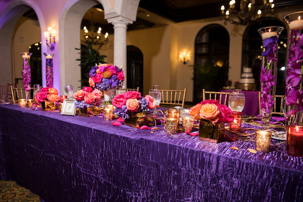 Events by special moments – Tampa Wedding Planner – Special Moments Event Planning – Avila Country Club – Moroccan Wedding-head table