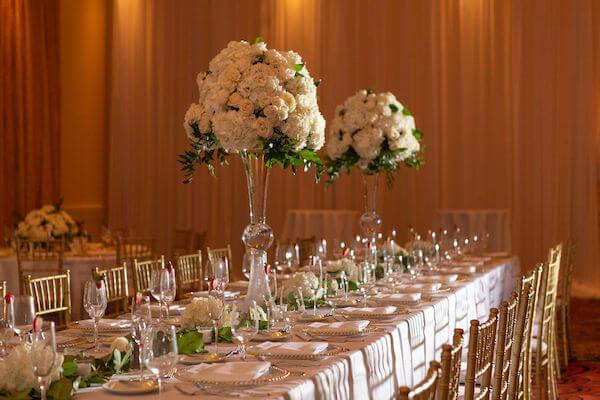 Clearwater beach weddings – clearwater beach Jewish wedding – Sandpearl Resort weddings - white and blush centerpieces