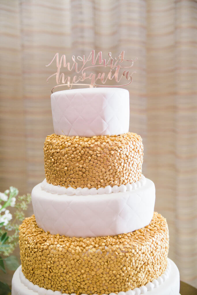 Events by Special Moments- Tampa wedding planner – Grand Hyatt Tampa Bay – Tampa luxury weddings – Special Moments Event Planning -gold and white wedding cake