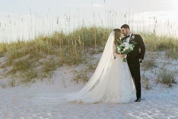 Clearwater beach weddings – clearwater beach Jewish wedding – Sandpearl Resort weddings - bride and groom on Clearwater Beach