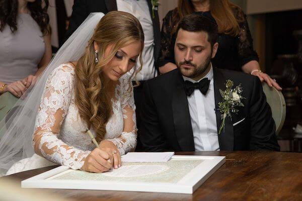Clearwater beach weddings – clearwater beach Jewish wedding – Sandpearl Resort weddings - ketubah signing