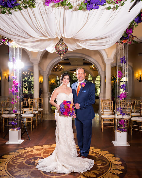 Events by special moments – Tampa Wedding Planner – Special Moments Event Planning – Avila Country Club – Moroccan Wedding - bride and groom under chuppah