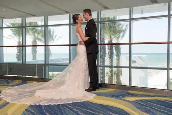 Clearwater Beach Wedding - bride and groom - opal sands resort