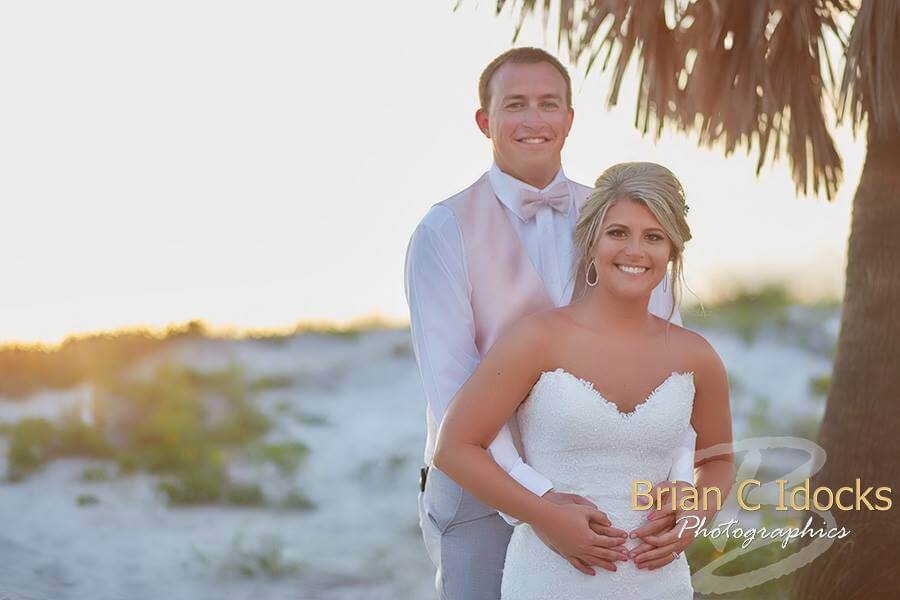 clearwater beach destination wedding - bride- groom- bride and groom - destination wedding - clearwater beach at sunset- events by special moments