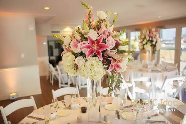 pink and white wedding reception - Hyatt regency - Hyatt regency clearwater beach - clearwater beach destination wedding
