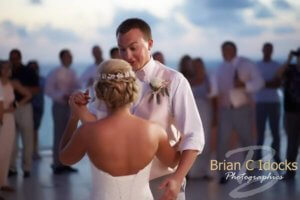 sunset first dance - first dance - bride and groom at sunset- destination wedding - clearwater destination wedding