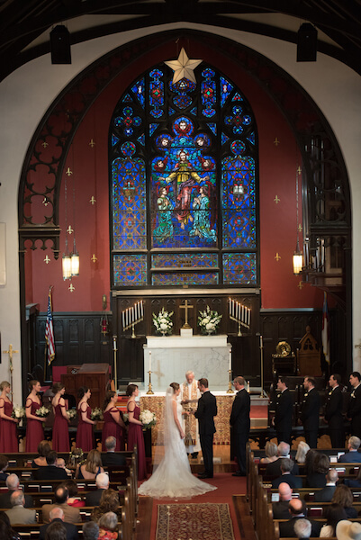 Episcopal Church of the Ascension wedding ceremony