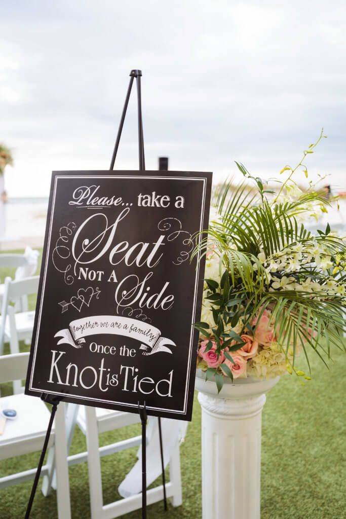Events by Special Moments – Special Moments Event Planning – Clearwater Beach Wedding – Sand Pearl Resort – Clearwater Beach Wedding Planner –ceremony decor