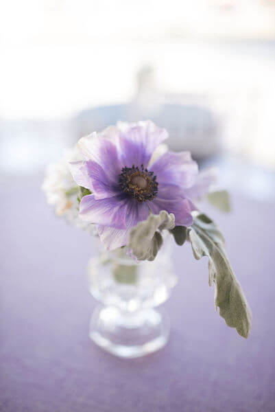Special Moments Event Planning - 15th anniversary party - purple centerpieces