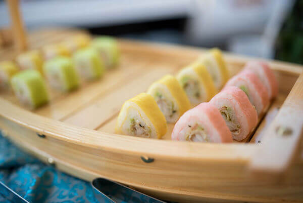Special Moments Event Planning - 15th anniversary party - hand rolls