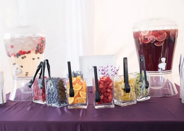 Special Moments Event Planning - 15th anniversary party - sangria bar