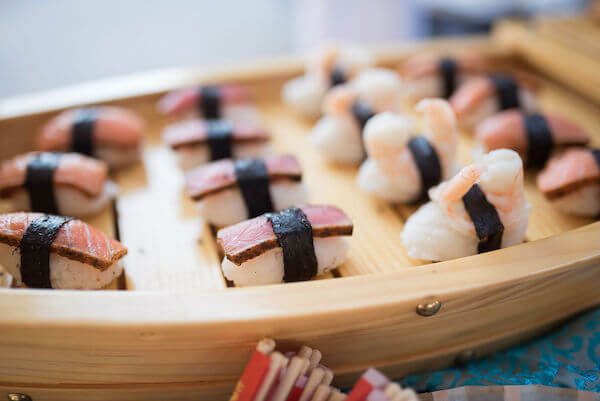 Special Moments Event Planning - 15th anniversary party - sushi boat