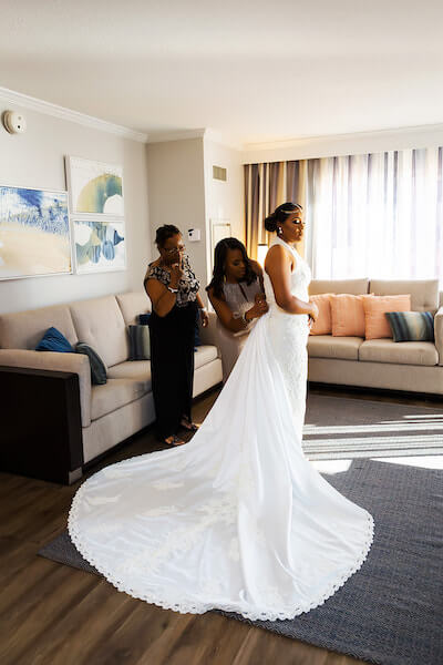 Special Moments Event Planning – Clearwater Beach Wedding – clearwater beach wedding planner – day of wedding coordinator in clearwater beach -bride - wedding gown