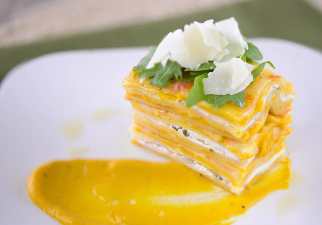 Special Moments Event Planning – Puff N Stuff Catering – Tampa Bay weddings – Tampa Bay wedding Planner - vegetarian wedding menu - butternut squash lasagne