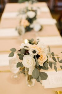 Special Moments Event Planning – Tampa Wedding – Tampa Wedding Planner- Tampa Wedding Reception – Rialto Theater -white wedding centerpieces