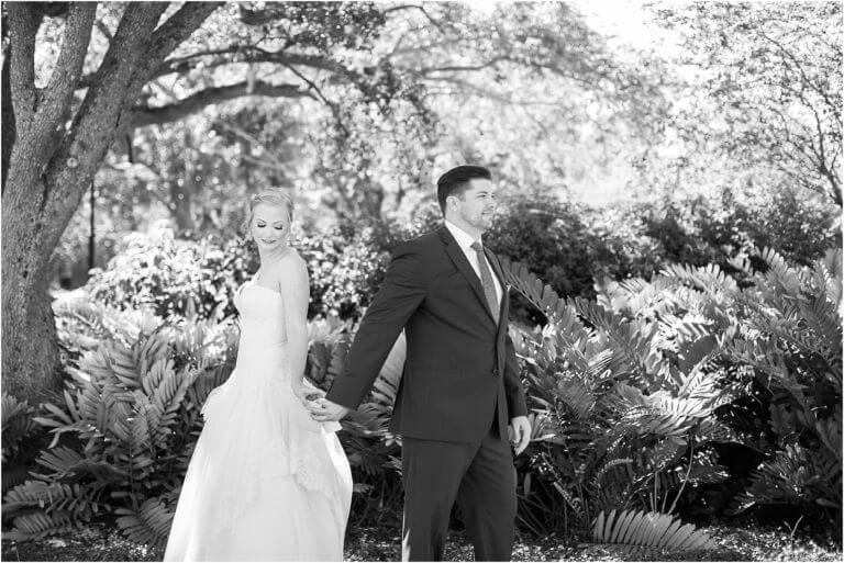 Special Moments Event Planning – Tampa Wedding Planner – Davis Island Garden Club – Davis Island Garden Club Wedding -bride and groom sharing a note