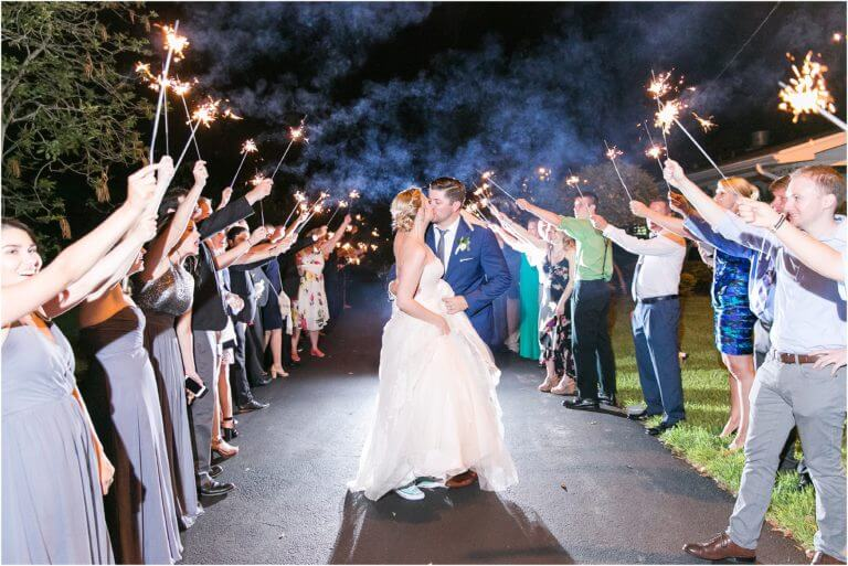 Special Moments Event Planning – Tampa Wedding Planner – Davis Island Garden Club – Davis Island Garden Club Wedding -sparkler send off