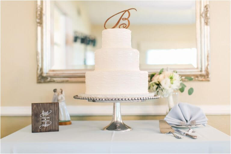 Special Moments Event Planning – Tampa Wedding Planner – Davis Island Garden Club – Davis Island Garden Club Wedding - three tiered wedding cake