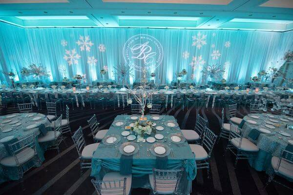 Special Moments Event Planning – Tampa Wedding Planner – Master Wedding Planner - Grand Hyatt Tampa – Association of Bridal Consultants- blue white and clear decor