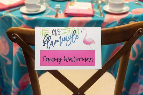 Special Moments Event Planning – Tampa Wedding Planner – Master Wedding Planner - Grand Hyatt Tampa – Association of Bridal Consultants - flamingo themed breakfast