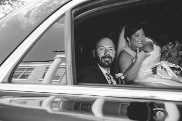Special Moments Event Planning – Tampa Wedding Planner – Tampa Bay Wedding Planner- Tampa Wedding – Armature Works wedding - bride and groom in limousine