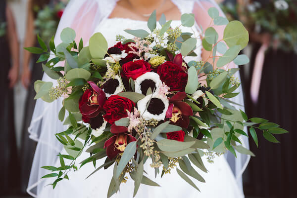 Special Moments Event Planning – Tampa Wedding Planner – Tampa Bay Wedding Planner- Tampa Wedding – Armature Works wedding - burgundy bridal bouquet