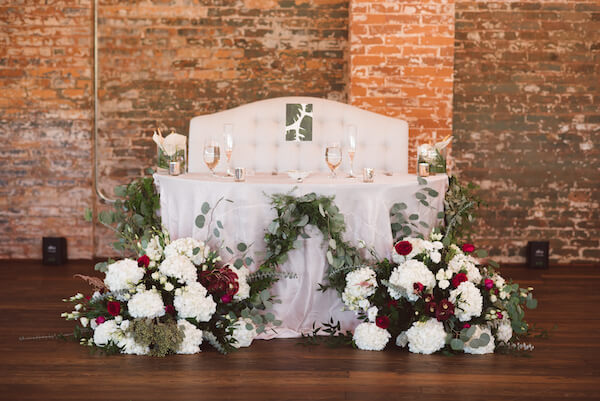 Special Moments Event Planning – Tampa Wedding Planner – Tampa Bay Wedding Planner- Tampa Wedding – Armature Works wedding - sweetheart table