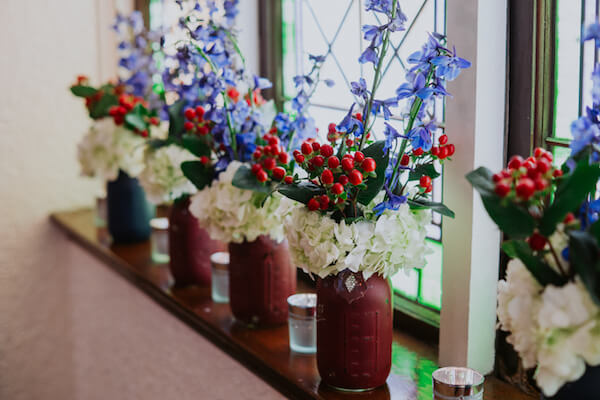 St Petersburg wedding planner – events by special moments – gulf coast wedding planner -red white and blue wedding centerpieces