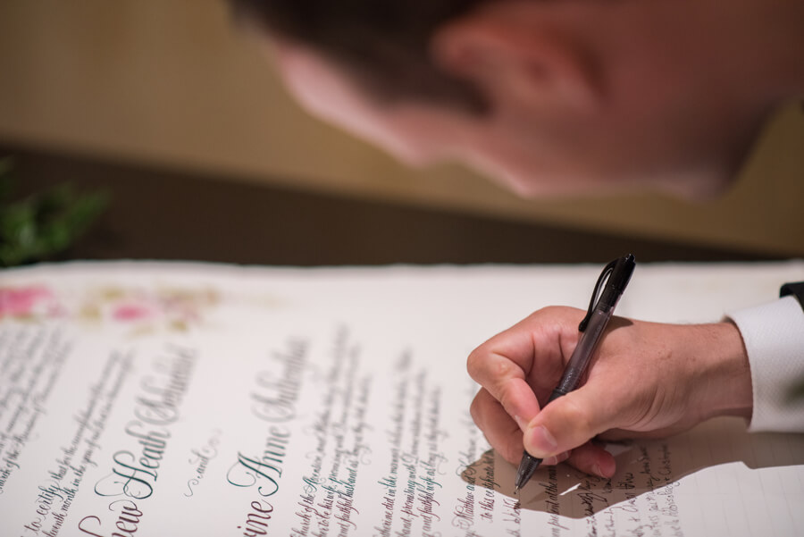 Quaker Marriage License - wedding certificate - Clearwater Beach wedding