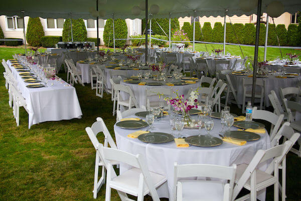 tented weddings - planning a wedding at home - Tampa Bay tented weddings - working with a wedding planner for your tented at home wedding