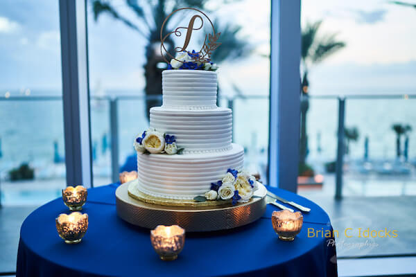 Opal Sands Wedding- Clearwater Beach Weddings – Clearwater Beach Wedding Planner - white buttercream wedding cake