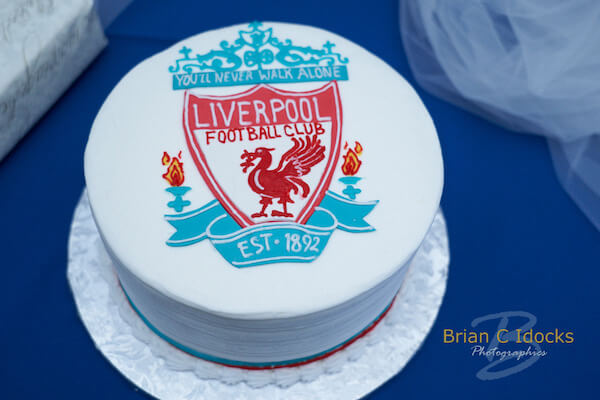 Opal Sands Wedding- Clearwater Beach Weddings – Clearwater Beach Wedding Planner - grooms cake - Liverpool Football Club
