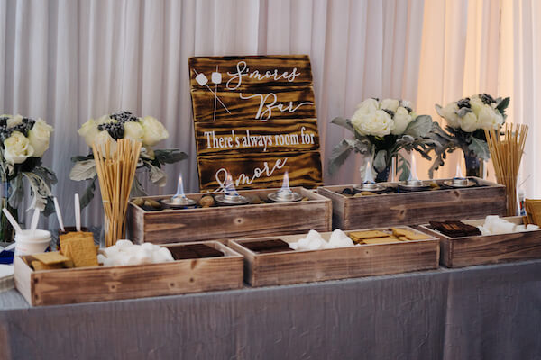 Tampa wedding – downtown Tampa wedding – The Hip Room Wedding - Tampa Wedding planner - s'mores bar for wedding
