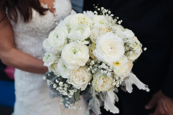 Tampa wedding – downtown Tampa wedding – Sacred Heart Tampa wedding – The Hip Room Wedding - Tampa Wedding planner - white and rhinestone bridal bouquet