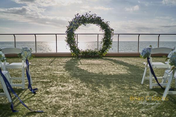 Opal Sands Wedding- Clearwater Beach Weddings – Clearwater Beach Wedding Planner - sunset wedding ceremony