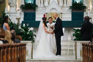Tampa wedding – downtown Tampa wedding – Sacred Heart Tampa wedding – The Hip Room Wedding - Tampa Wedding planner - exchanging wedding vows