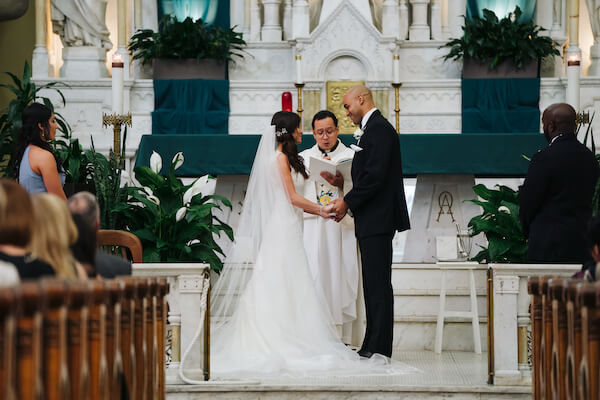 Tampa wedding – downtown Tampa wedding – Sacred Heart Tampa wedding – The Hip Room Wedding - Tampa Wedding planner - exchanging wedding vows
