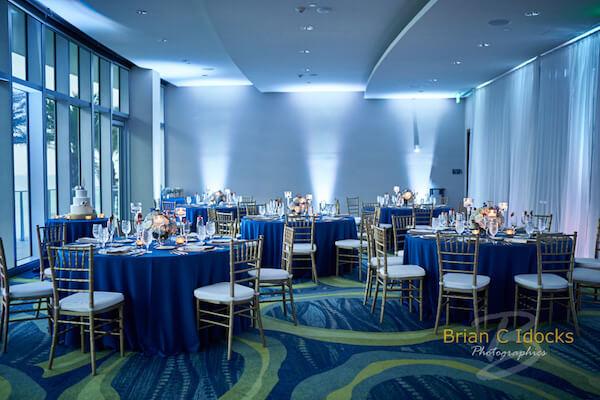blue wedding decor - Opal Sands Wedding- Clearwater Beach Weddings – Clearwater Beach Wedding Planner