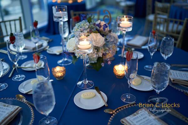 Opal Sands Wedding- Clearwater Beach Weddings – Clearwater Beach Wedding Planner - blue and gold wedding