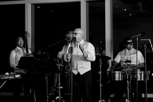Opal Sands Wedding – Clearwater Beach Wedding – purple and white wedding- Latin Salsa Band