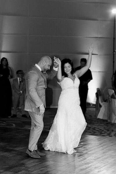 Opal Sands Wedding – Clearwater Beach Wedding – purple and white wedding-first dance