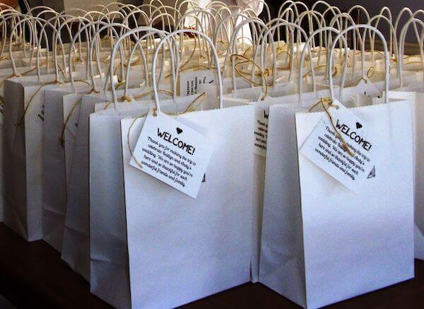 wedding welcome bags - customized welcome bags for weddings