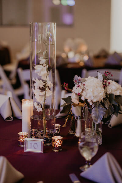 Clearwater Beach Wedding – Clearwater Beach Recreation Center wedding- Clearwater Beach wedding planner - simple wedding centerpieces